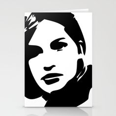 """A beautiful black and white art of a beautiful woman face from the """"Fashion / Beauty Collection """"."""