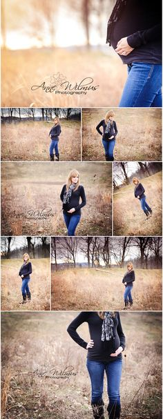 pittsburgh maternity photographer, photos in a field