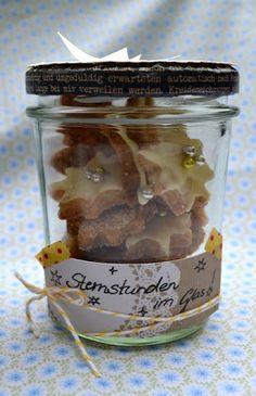 Kekse im Glas als Geschenk