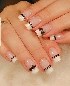No one will reject acrylic nails, because their elegant and perfect nail shape can make fingers look slender and very easy to show personal charm. And if you like simple and stylish design, check out these 48 simple acrylic nails, you will love it. Simple Acrylic Nails, Easy Nail Art, Simple Nails, Red Nail Designs, Simple Nail Art Designs, Bow Nail Art, Nagellack Design, Pretty Nail Art, Dream Nails
