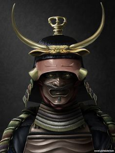 Samurai armor The era of warfare called the Sengoku period ended around Japan was united and entered the peaceful Edo period, samurai continued to use both plate and lamellar armour as a symbol. Ronin Samurai, Samurai Helmet, Helmet Armor, Samurai Armor, Arm Armor, Japanese Mask, Japanese Warrior, Japanese Sword, Kendo