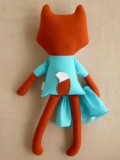 Reserved for Amanda Fabric Doll Rag Doll Stuffed by rovingovine