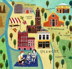 Map of Utrecht by Liekeland