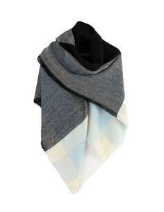 Throw this over a jacket, or wear around the house to keep warm and cozy. The beautiful navy, gray, and ivory go with so many colors, outfits, and styles and will be a staple in your wardrobe. Size: 5