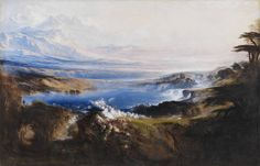 """John Martin """"The Plains of Heaven"""" Oil on canvas, 199 × 307 cm (left part of the triptych) London, Tate Britain Art Heaven, Heaven Movie, Artistic Visions, Google Art Project, Tate Britain, Tate Gallery, John Martin, Heaven And Hell, Ouvrages D'art"""