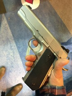 Dan Wesson Valor 9mm. Oh my gosh! This is so well and precision made I couldn't get it out of my head after holding it in my hands! Came back 3 days later to make this handsome man home! Yes! Dan Wesson!!!