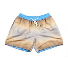These beige, graphic printed swim shorts, 'Monaco' are named after the coolest city in France. Tropical Colors, Ss 15, Swim Shorts, Workout Shorts, Monaco, Digital Prints, Beige, France, Printed