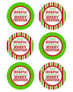 Just soapin you have a merry christmas! gift tags a diy printable file! Merry Christmas, Christmas Neighbor, Christmas Soap, Teacher Christmas Gifts, Neighbor Gifts, Christmas Tags To Print, Christmas Ideas, Christmas Labels, Christmas Projects