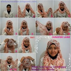 Hijab Tutorial for Chiffon Pashmina Inspired by Siti Juwariyah & Hijabers Community