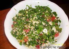 Ταμπουλέ (Λιβανέζικη σαλάτα) συνταγή από mamia - Cookpad Yummy Mummy, Salad Bar, Recipe Images, Appetisers, Greek Recipes, Seaweed Salad, Palak Paneer, Better Life, Feta