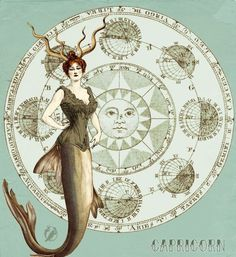 I decided to start a Horoscope.And, I don't know why, I started with the Capricorn! I hope I'll be brave enough to do them all ^^ Here the Taurus: [li. My Vintage Horoscope -Capricorn- Capricorn Tattoo, Capricorn Women, Horoscope Capricorn, Capricorn And Aquarius, Astrology Zodiac, Capricorn Daily, Cancer Astrology, Daily Horoscope, Dandy