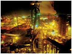 Hoogoven 6 by night Een fixmedia classic Tata Steel, Factories, Industrial, Inspirational, Industrial Music