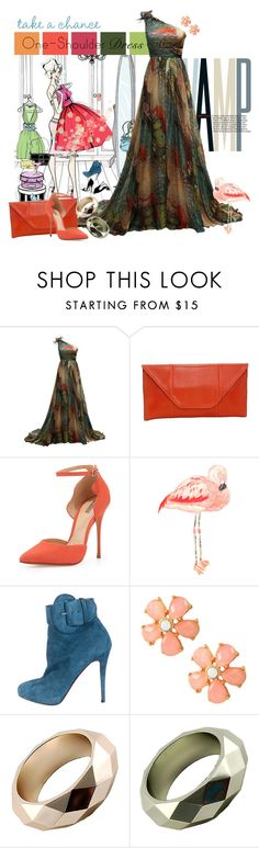 """""""Take A Chance"""" by shoppe23 on Polyvore featuring Schutz, Christian Louboutin, dress, gown, oneshoulder and Shoppe23"""