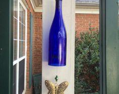 Butterfly Wine Bottle Wind Chime