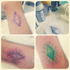 Awesome The Sims Plumbob tattoo idea
