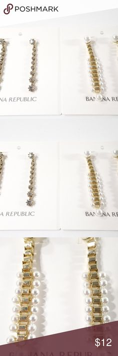 c11595677 Banana Republic Drop Earrings Set of 2 PCS NWT $49 Welcome to NYCEB Banana  Republic Metallic