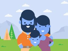 Community Standards - Family designed by Seth Eckert. the global community for designers and creative professionals. 2d Character Animation, Animation Reference, Character Art, Character Design, Character Illustration, Graphic Illustration, Gifs, Vector Animation, Gif Photo