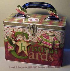 Christmas Card Tin