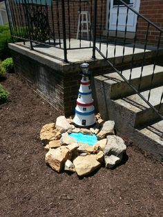 My clay pot lighthouse is finished  :)