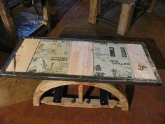 meubles originaux :  Table sur poulies