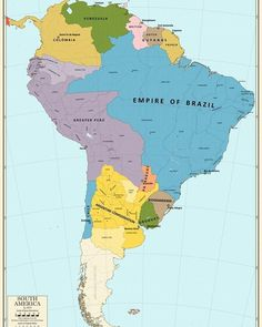 Balance of Power - 1871 - South America by CoryCA on DeviantArt Argentina South America, South America Map, Latin America, Geography Map, Asia Map, History Timeline, Fantasy Map, Alternate History, Vintage Maps