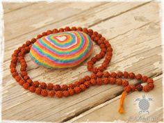 6mm Mala Rudraksha Necklace Indian Shiva Beads by MaKarmaCreations