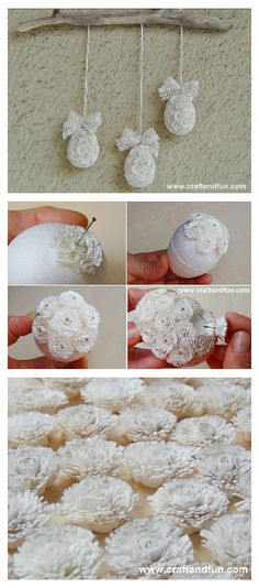 DIY: Quilling Easter Eggs with Recycled Paper. Love the flowers!