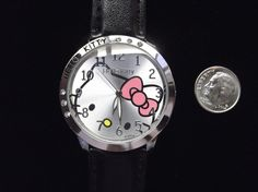 'Black Adult Hello Kitty Watch with Rhinestones' is going up for auction at  6pm Mon, Sep 10 with a starting bid of $5.