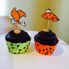 Pebbles Flintstone and Bam Bam Cupcake Wrappers by LollipopParty