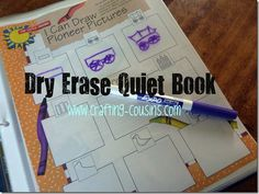Dry Erase Quiet Books--perfect for those times when you need nice, quiet, fun activities for you kids!