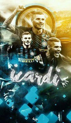 Mauro Icardi, Milan Football, Uefa Champions League, Cristiano Ronaldo, Fifa, Soccer, Illustration, Football Players, Hs Sports