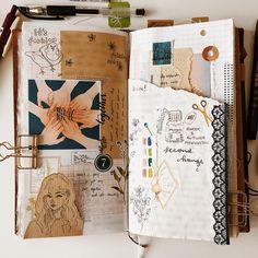 Journal creative journal, bullet journal inspo, scrapbook journal, j Art Journal Pages, Album Journal, Scrapbook Journal, My Journal, Travel Scrapbook, Art Journals, Journal Layout, Journal Notebook, Bullet Journal Inspo
