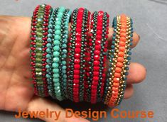 Cuff Bracelets, Bangles, Ring Tutorial, Craft Accessories, Ring Earrings, Beading Patterns, Making Ideas, Beaded Jewelry, Jewelry Design