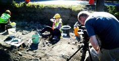 Marko Melto kävi kuvaamassa arkeologisia kaivauksia, Pirkkala