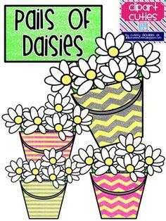 Pail of Daisies Spring Clip Art Free Clipart For Teachers, Teachers Pay Teachers Freebies, How To Make Scrapbook, Scrapbook Cards, Scrapbooking, Classroom Displays, Classroom Ideas, Classroom Clipart, Cool Fonts