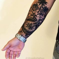 Compass Tattoo Ideas For Men – Best Tattoo Ideas For Men: Cool Tattoos For Guys – Find Badass Designs and Drawings For Inspiration tattoos tattoosfo… Forarm Tattoos, Forearm Sleeve Tattoos, Best Sleeve Tattoos, Tattoo Sleeve Designs, Tattoo Designs Men, Compass Tattoo Forearm, Xoil Tattoos, Tattoo Sleeves, Tattoo Ink