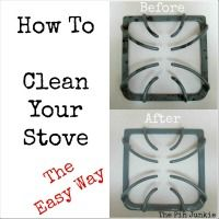 How to Clean Your Stove the Easy Way  I put my grates in my self-cleaning oven - they come out like new!  :)