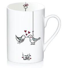 Porcelánový hrnek Love, 300 ml