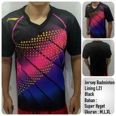 Jersey Badminton  Bahan:Polyester Verycool Bahan Menyerap Keringat dan adem Ukuran: M = 67 x 50 cm L = 69 x 52 cm XL = 71 x 54 cm (Panjang x Lebar)