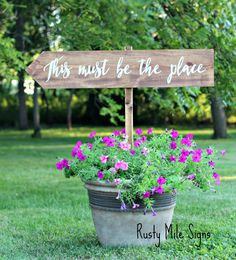 wedding signs Wedding Sign, Customizable Wedding Sign, This Must be the Place, Rustic Wedding Wedding Seating Signs, Rustic Wedding Signs, Wedding Venues, Barn Weddings, Wedding Day Messages, Wedding Scripture, Wedding Bouquets, Wedding Flowers, Wedding Dresses