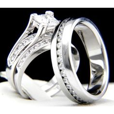 His Hers 3 pcs Womens Stainless Steel Bridal Set. Starting at $15