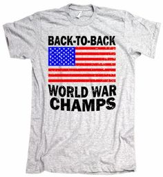 25eb88700e52be Back to Back World War Champs Retro American Apparel T-Shirt  22 Retro Men