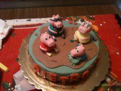 Peppa pig cake _ dall'alto