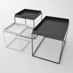 To know more about HAY Tray Table Side Table, visit Sumally, a social network that gathers together all the wanted things in the world! Cofee Table, Hay Tray Table, Large Coffee Tables, Table And Chairs, Basement Furniture, Steel Furniture, Table Furniture, Cool Furniture, Black Furniture