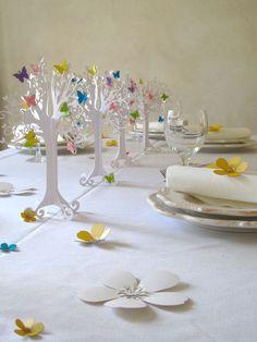 Lente - Hartboom witte bruiloft decoratie - Een uniek product van KoelnSchaetze op DaWanda