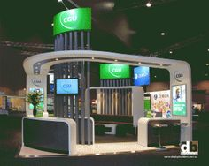 Triad Creative Group will design and build your stand. Like some aspects of the… Exhibition Stall, Exhibition Booth Design, Exhibition Display, Exhibit Design, Exhibition Ideas, Exibition Design, Trade Show Booth Design, Displays, Office Interior Design