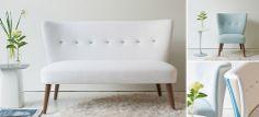Julep sohva on kevytlinjainen, sekoitus vintagea ja modernia ilmettä. Sopii erityisen hyvin pieneenkin tilaan.