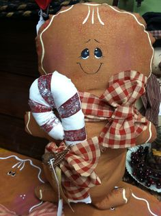 Rosi's Cottage Treasures created this ginger bread doll. Can be reached at 434 South Main St North Syracuse NY 13212. Tele 315-458-8020.