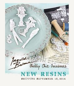Of course we had to add more of Ingvild's exquisite resins to our line-up! With fabulous detail, and shabby chic touches, each new resin will add delightful design to ALL of your papercraft projects. Don't forget you can customize our resins with your favorite Chalk Edger or Color Bloom spray! Shabby Chic Treasures Resins Available in: Garden Fountain (892463), Resin Birds (892470), Resin Swirls (892487) @ingvildbolmed #shabbychic #weddings #DIY #resins #new #sneakpeeks #primaflowers
