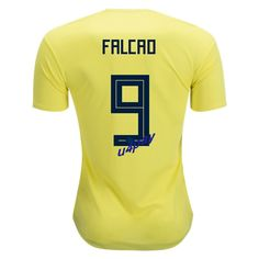 0cd59d08a77 Radamel Falcao 9 2018 FIFA World Cup Colombia Home Soccer Jersey